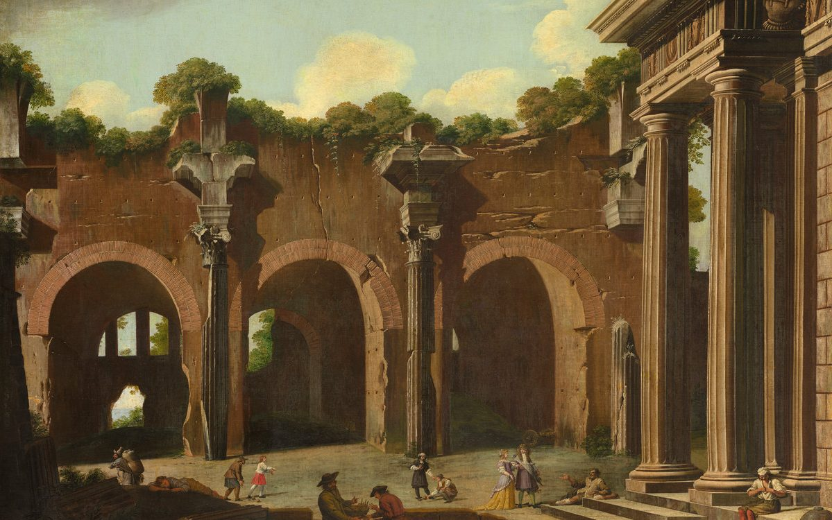 The Basilica of Constantine with a Doric Colonnade | Niccolô Codazzi | National Gallery of Art Washington DC