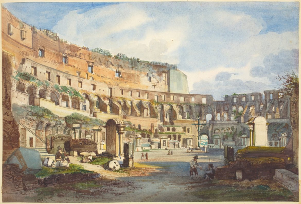 Interior of the Colosseum | Ippolito Caffi